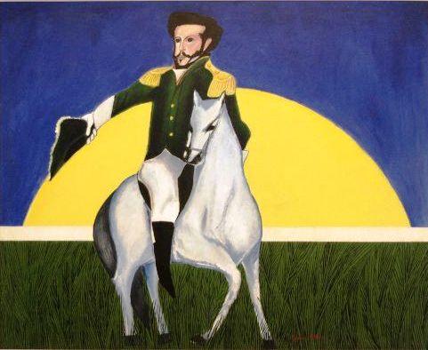 Aldemir Martins,Independência (óleo sobre tela, 122x103 cm)
