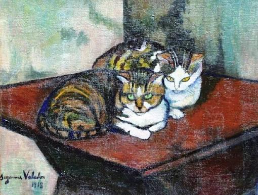 Dois gatos, 1918-Suzanne-Valadon, ost