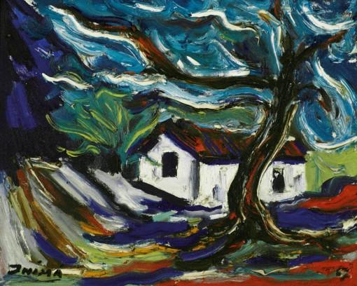 Inimá de Paula, O sítio,ost,1967, 33 x 42 cm