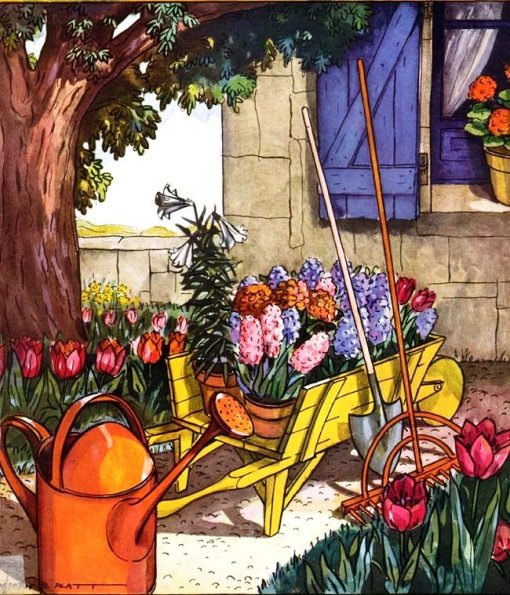 jardinagem, jardim, carrinho, Joseph B. Platt,House and Garden 1925-03