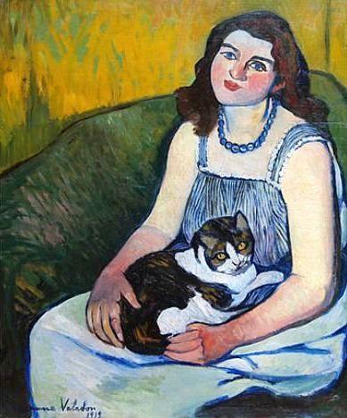 Menina com gato, 1919, Suzanne Valadon