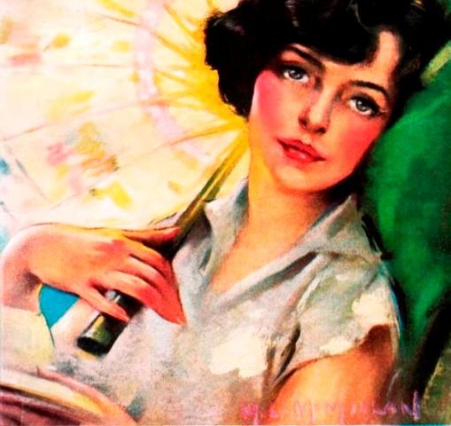 moça com sombrinha, Neysa McMein,AmericanMagazine 1925-08