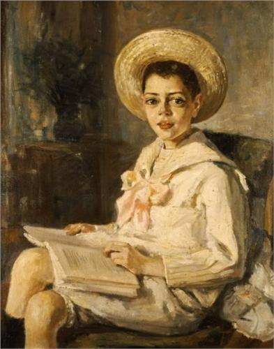 Thalia Flora-Karavia, 1906boy-reading-1906