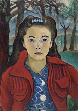 AlbertodaVeigaGuignard,RetratodeLauraPinheirodeMachadoPinto,osmadeira,1941,56x39