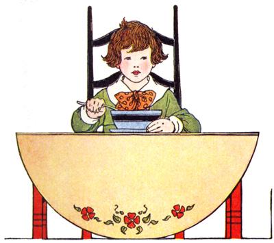 almoço, ilustração Blanche Wright