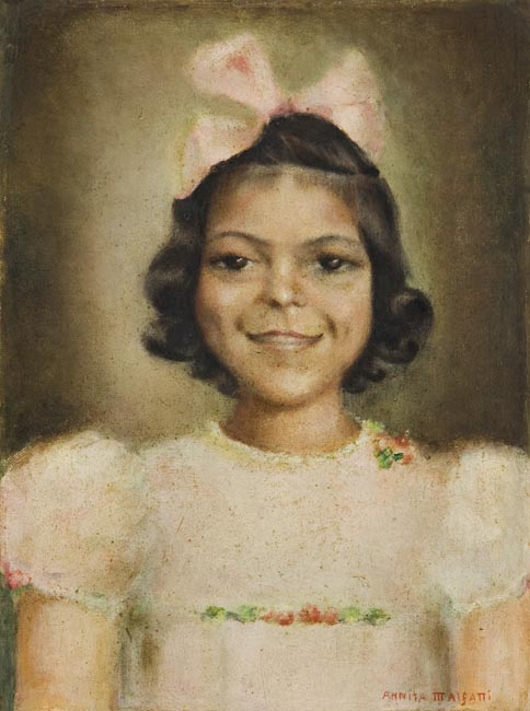Anita Malfatti, Menina, 1938, ostcc, 31x23