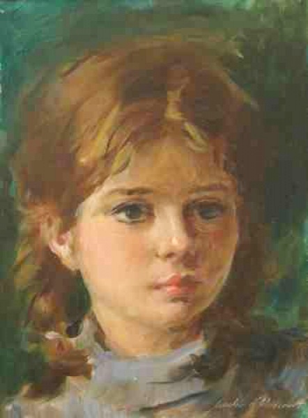 Aurélio D´Alincourt - Menina - Óleo sobre placa - 32 x 24 cm