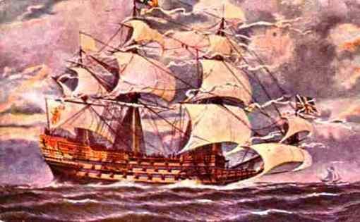 barco a vela, postal
