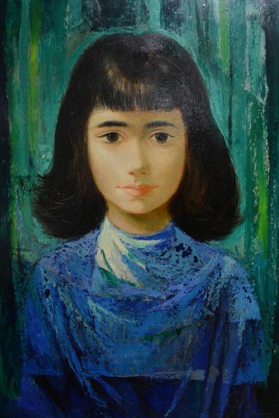 Bianco, Enrico (1918) Figura de Menina, o.s.m. - 55 x 38. Assinado e datado 1962.