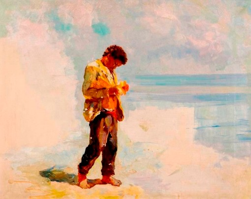 BIGIO GERARDENGHI,(Itália1876-Brasil, 1957)MENINO,40 x 50,ost