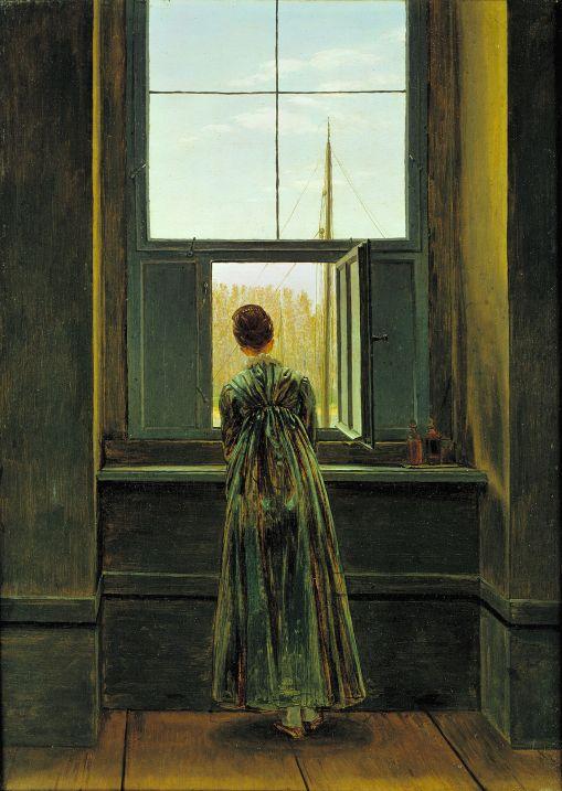 Caspar David Friedrich, Woman at the Window (1822) oil on canvas, 44 x 73 cm (Alte Nationalgalerie, Berlin).