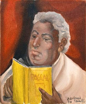 Di cavalcanti, auto-retrato lendo