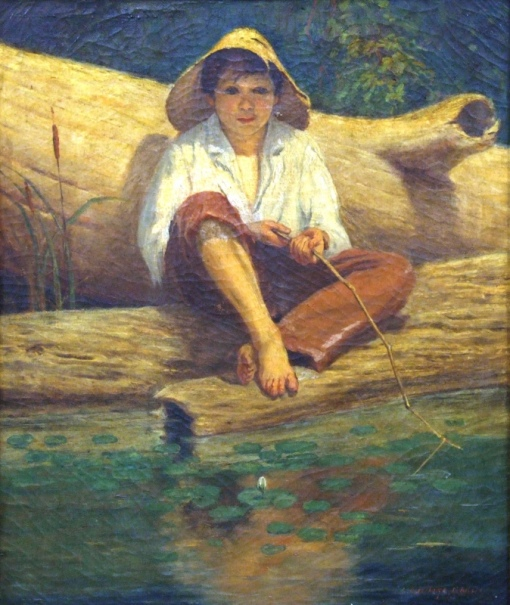 Grosso Guerino ,Menino pescador, o.s.t. - 54 x 46