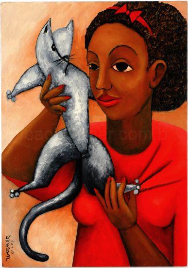 Joao Werner(Brasil)menina_com_gato, 2003,ost,50x70