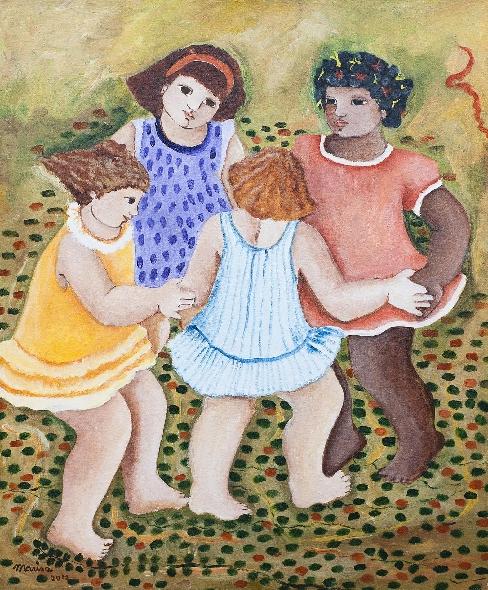 Mariza lacerda, (Brasil, 1939)  ano 2012, 60x50cm, Oleo sobre Tela