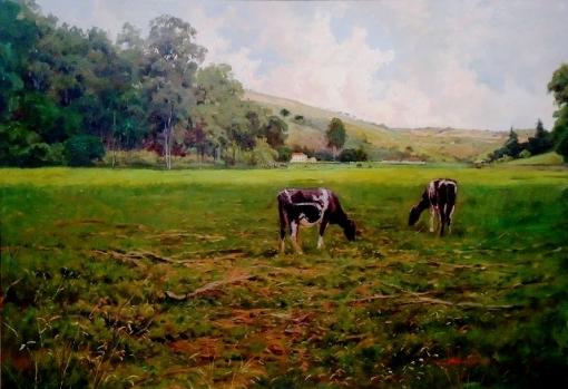 MAURO FERREIRA - Fazenda em Ravena - Óleo sobre tela - 70 x 100