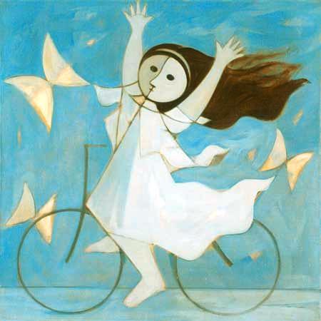 Menina e Bicicleta, de 1965, Milton Dacosta