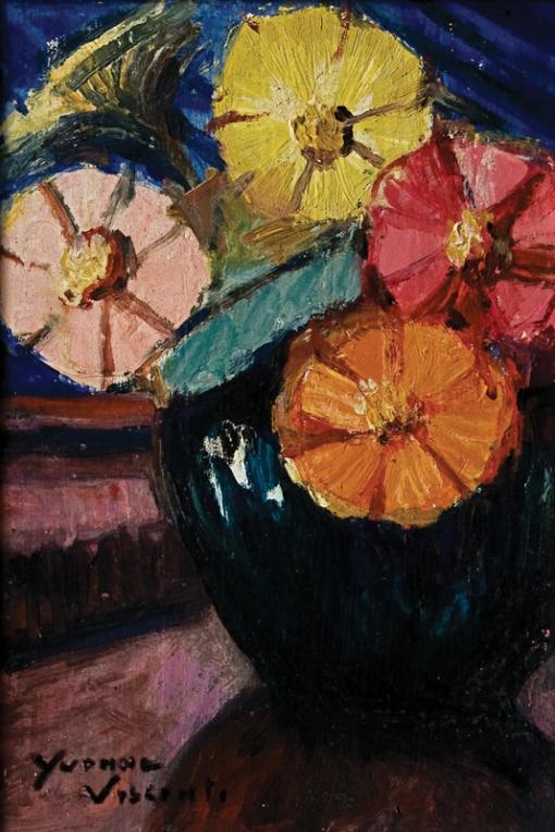 Yvone Visconti,Flores, 21 x 14 cm – OSM