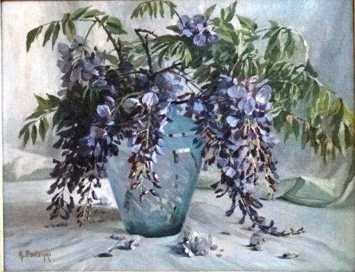 A. FONZARI. Vaso com flores - o.s.t. - 37 x 46 cm - assinado no cie.