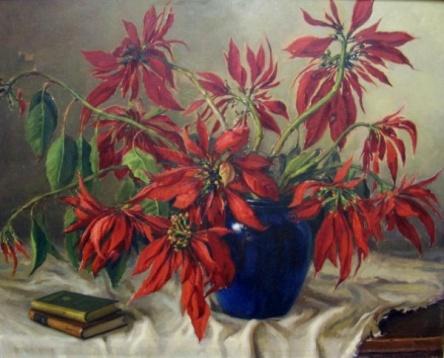 ANTONIO ARENA - Vaso de Flor Óleo sobre Tela, 80 X100 cm. Assinado canto inferior esquerdo