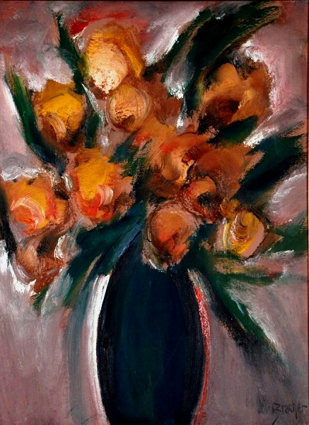 CARLOS BRACHER - Flores - ost - 80 x 60