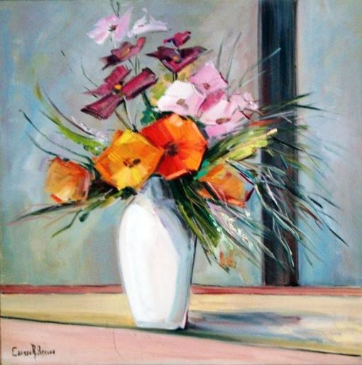 Carmen Arruda,Vaso de Flores,71 x 71 cm - OST