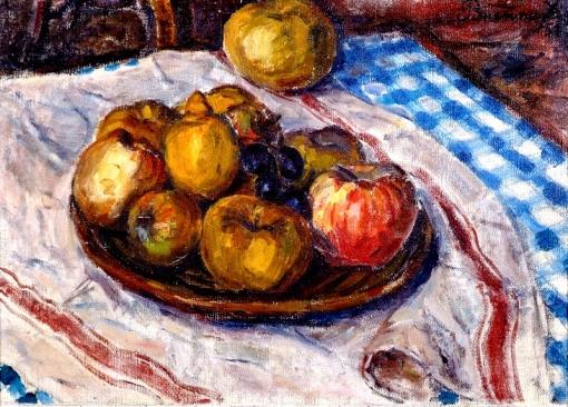 FRANCISCO BRENNAND (RECIFE, 1927) Frutas sobre a mesa,1951, ost, 34 X 46