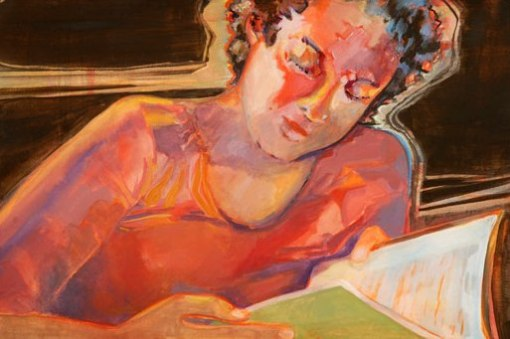 girl-reading marilyn sears bourbon