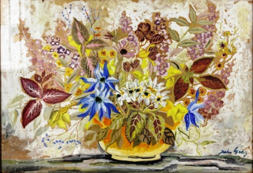 JOHN GRAZ (Genebra, 12 de Abril de 1891 SP, 27 de Outubro de 1890) - Fleurs. Guache. Ass. cid. mi 68 x 98 cm