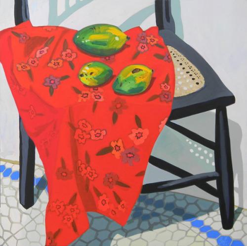 mangas-espada-1-flc3a1vio-freitasA tela Mangas Espada, acrílica sobre tela 116 x 116 cm, é do artista plástico, velejador e trompetista Flávio Freitas