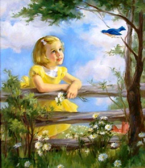 pasarinho azul, Ariane Beigneux (1918, American)