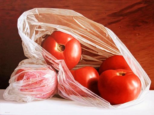 Renato Meziat (Brasil,1952), Tomates,  2013, 60 x 80 cm, Óleo sobre tela