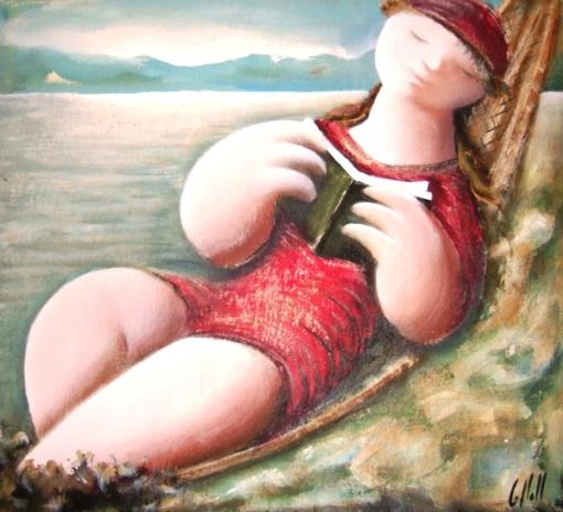 Salvador Collell,mujer_leyendo
