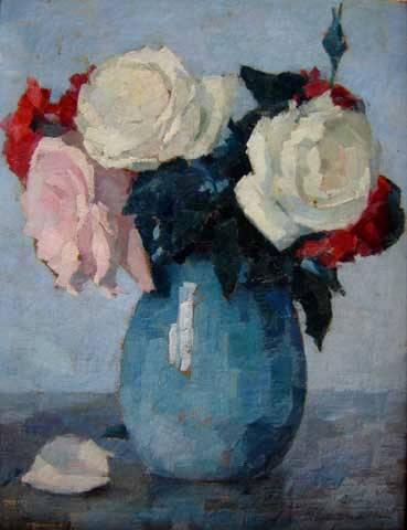Tulio Mugnaini, Vaso de flores, ost, 34 x 26 cm
