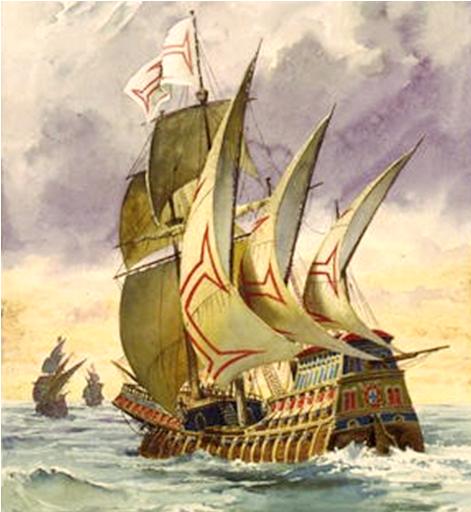 caravelas portuguesas ao mar