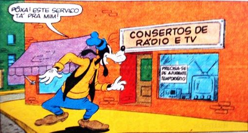 conserto, rádio tv, pateta, procura-se