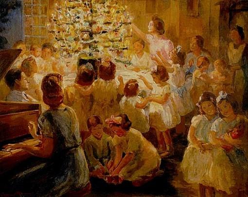 Georgina de Albuquerque (1885 – 1962, Brazilian) Arore de Natal, 1943v