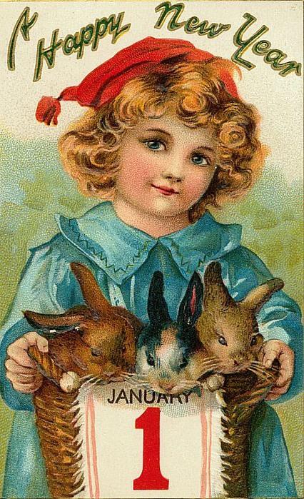 1 de janeiro, 4 com coelhinhos