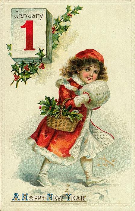 1 de janeiro, 7 menina com azevinho