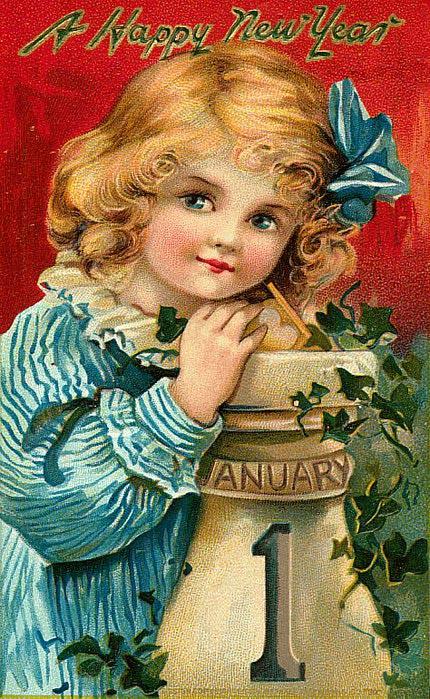 1 de janeiro, menina com laço de fita