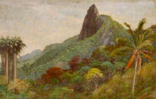 Aurelio Figueiredo (Brasil, 1854-1916) Corcovado, 1903, ost, 46 x 74cm, Museu de Arte de Belem