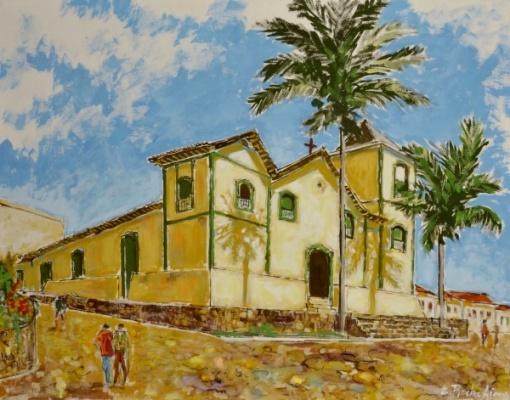 ELDER ROCHA LIMA,têmpera de vinil Igreja Matriz de Corumba de Goiás, 90x70cm 2013