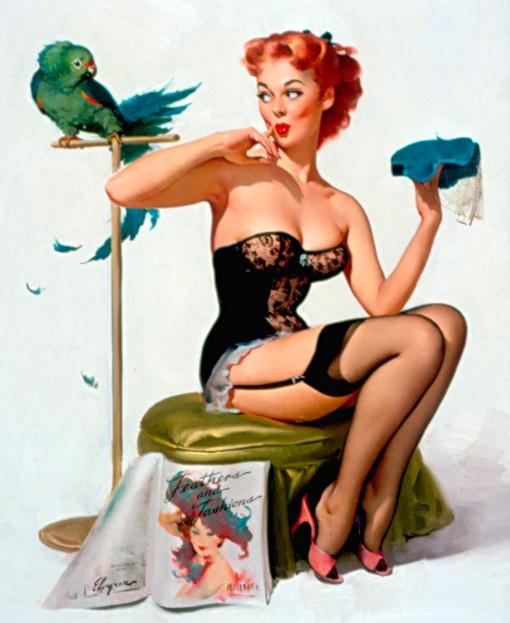 elvgren_noyoudont_1956_30x24_oiloncanvas.jpg feather and fashions,