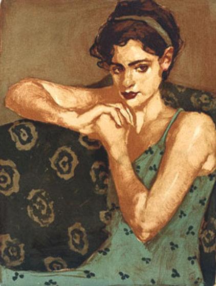 Malcolm_Liepke_Pensive.2001, litografia, 47 x 58 cm