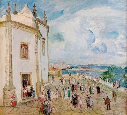 Marie Nivoliers de Pierrefort (1879-1968), Outeiro da Glória, RJ, ost, 100x108cm