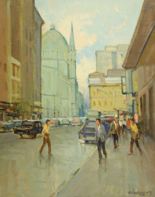 MENASE WAIDERGORN – Romenia,(1927)Centro de São Paulo - óleo sobre tela - 50 x 40 cm -