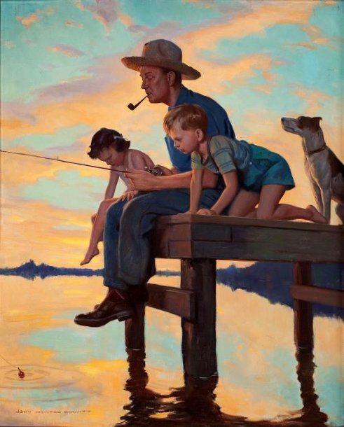 pescaria de todos, John Newton Howitt (1885 – 1958)