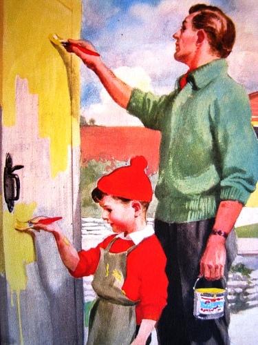 pintar a casa, ajudando na pintura