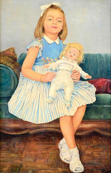 VAN DIJK, WIN (1915-1990)RetratodeMariaCatarina Douat,ost, 1957,95 X 60