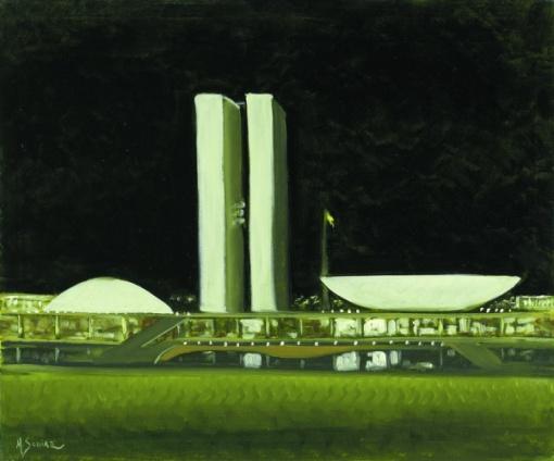 367398Márcio Schiaz - Congresso Nacional - Noite - 50 x 60 cm - OST - Ass. CIE e Dat. 2007